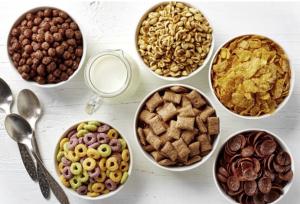 Non Healthy breakfast cereals