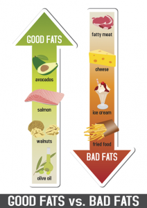 Good and Bad Fat food types